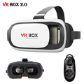 Leather VR BOX 2.0 ii Update 3D Glasses Headset HD Cardboard Virtual Reality Helmet for 4-6' Smartphone + Remote Controller