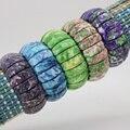Riverstones nieve jade 22x8mm pulsera elástica multi elemento de colocación DIY piedra, cinco colores para elegir joyería al por mayor