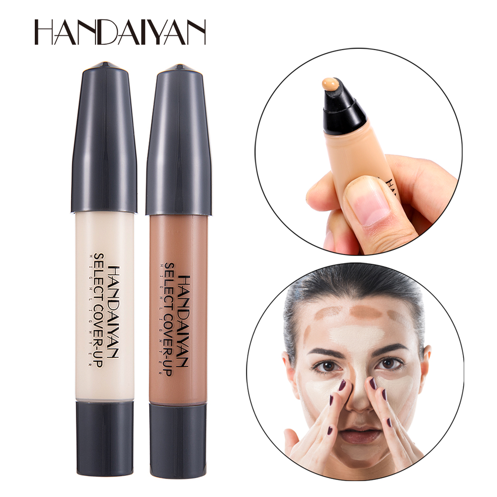 HANDAIYAN 12 Colors High Light Brightening Concealer Pen Long Oil Control Whitening Concealer Liquid Foundation Makeup TSLM1 image