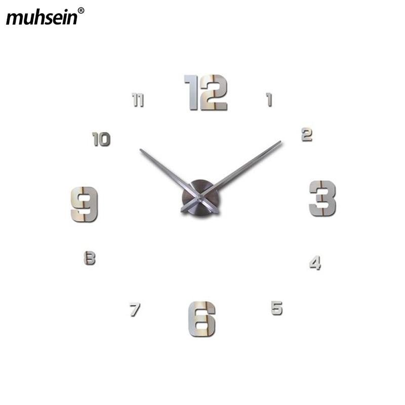 2020 muhsein Wall Clock Clocks Watch Stickers Diy 3d Acrylic Mirror Home Decoration Quartz Balcony/courtyard Needle europe saat