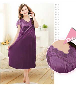 ... Бесплатная доставка женщин с красным кружевом сексуальная ночная рубашка  для девочек большие размеры пижамы большого размера ... 24ec164440022