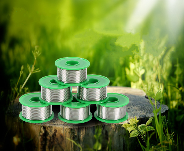 50g 0.6/0.8/1.0/1.2/1.5mm Lead Free Rosin Core Flux 2% Low Melting Soldering Wire Roll Solder Welding Wire Tin