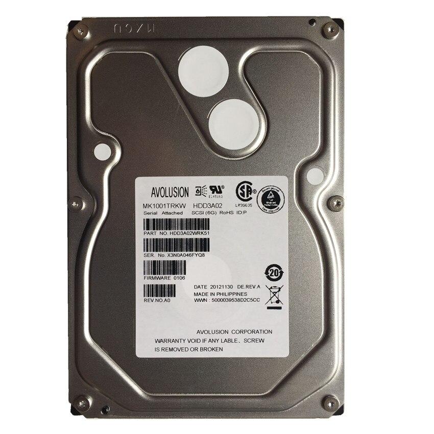 1 to 7200 tr/min série SCSI SAS 6.0 Gbps 3.5 pouces disque dur interne garantie pour-an