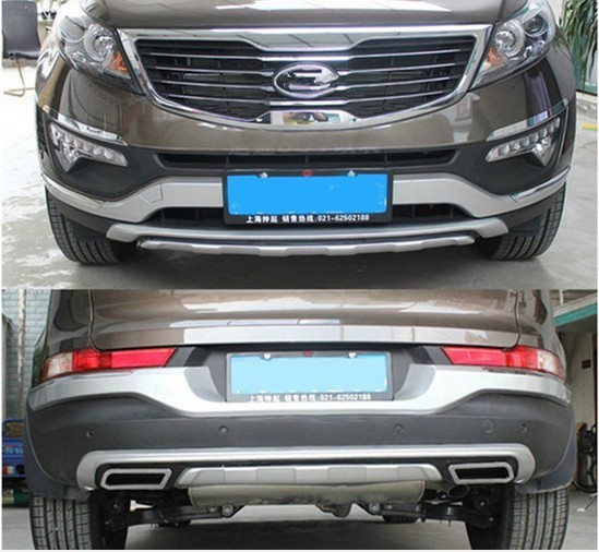 Good quality ABS plastic plating chromium before + after bumper cover for KIA Sportager 2011-2013