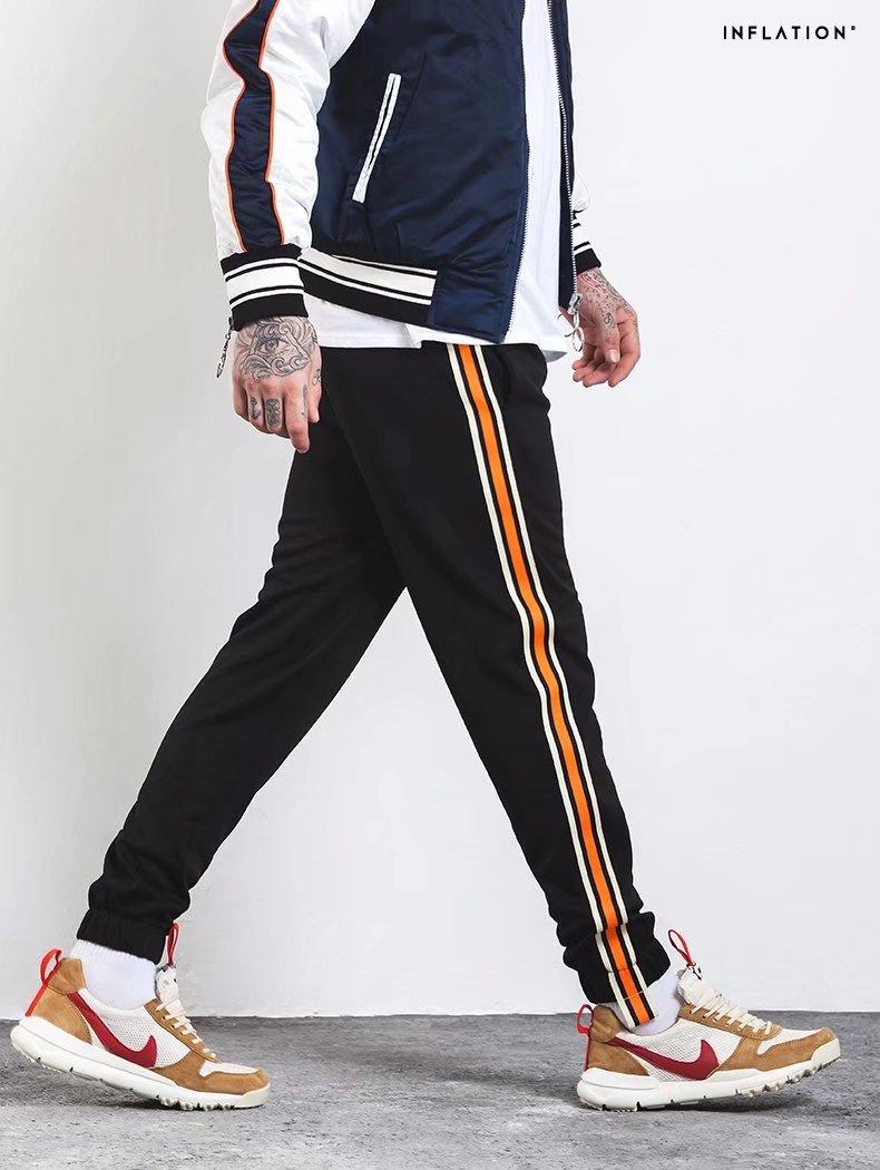 4f1c6759 € 25.2 |Nuevo Otoño 2017 vintage lado raya ropa deportiva Pantalones moda  hip hop elástico cintura corredores Pantalones casual Pantalones de ...