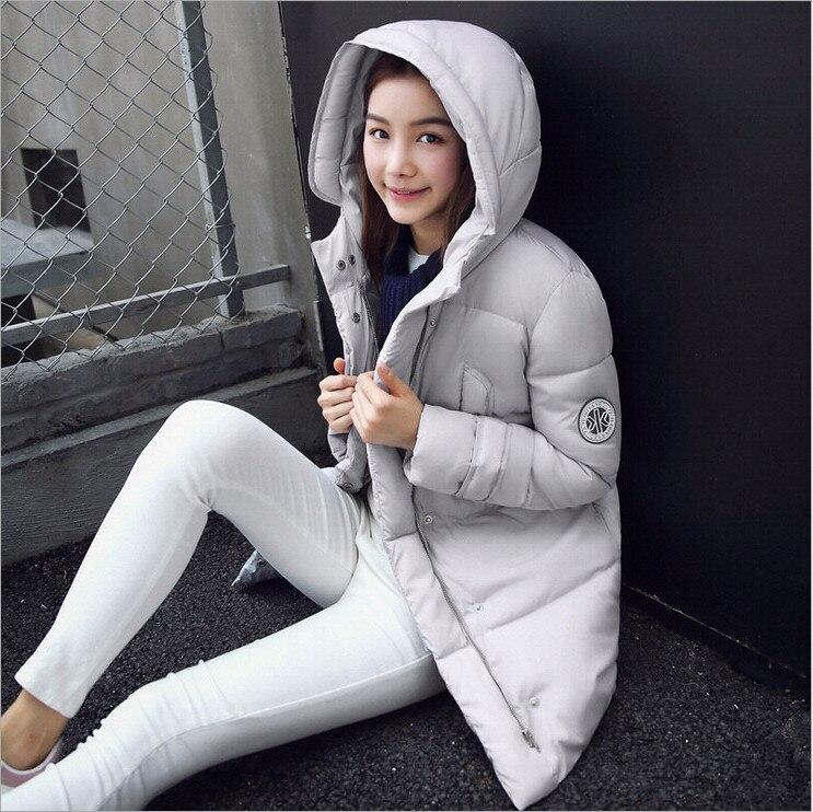 2017 winter new Korean version of Slim thin big yards long down padded jacket women cotton