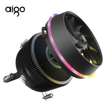 Aigo Bayangan PRO 4 Pin CPU RGB Cooler LED PC CPU Fan Pendingin Radiator Aluminium Tembaga Heatsink Master-Cooler pipa Panas(China)