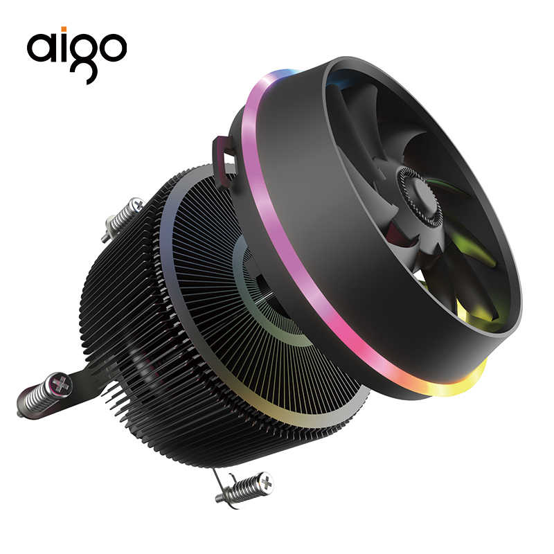 Aigo Shadow Pro 4 broches CPU RGB refroidisseur LED PC ventilateur CPU radiateur refroidissement aluminium cuivre dissipateur thermique maître Ram refroidisseur caloduc
