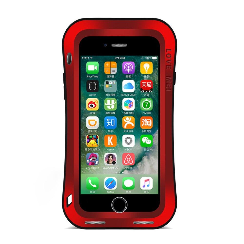 Цена за Для Apple iPhone 7 doom Броня Алюминиевый металлический Водонепроницаемый противоударный + Gorilla Glass Роскошные кадров чехол для iPhone 7 Plus чехол