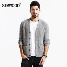 SIMWOOD Новые Осень Зима Кардиган моды для Мужчин свитер вскользь трикотаж бренд одежды MY2070