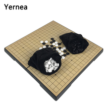 купить Yernea Go Board Game Magnetic Chess Pieces Portable Folding 32*32*2CM Board Chess Magnetic Go Game Gift Entertainment по цене 1605.48 рублей