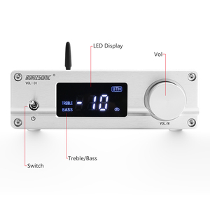 Image 3 - Brzhifi ハイファイ NJW1194 bluetooth 5.0 aptx リモート受信プリアンプ 5 方法ロスレスハンドオーバプリアンプと高音低音 led disply