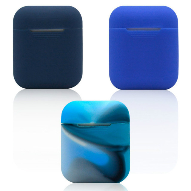 finest selection ebbaf 4da5c US $1.1 |Soft Cover Silicone Case for Apple Airpods Protector Cases with  Dust Plug Anti Lost Strap for Apple AirPods Cases Earphone Box-in Earphone  ...