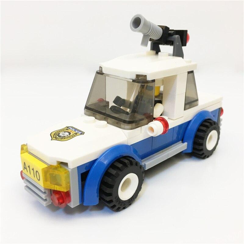 5353 Brick éducation Précoce Blocs numériques chasse patrouille wagon jouets Bloc Brique ABS Jouet racing locomotive voiture Exploiture blocs