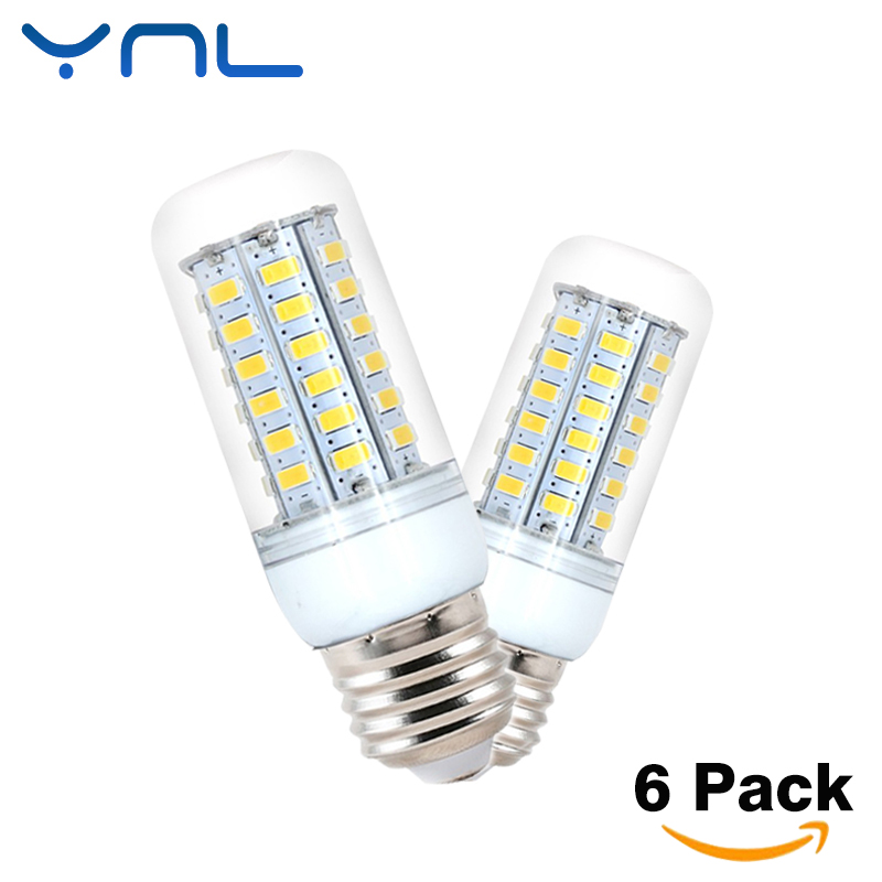 6Pcs/lot Lampada LED Bulb SMD 5730 E27 LEDs Lamp Light 26 36 48 56 69LEDs Corn Light AC220V Chandelier Candle Lighting ...