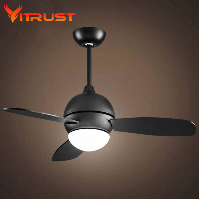 Retro Vintage Ceiling Fan Modern Dining Room Ceiling Fan With Remote  Control Home Decorative Quiet Ceiling