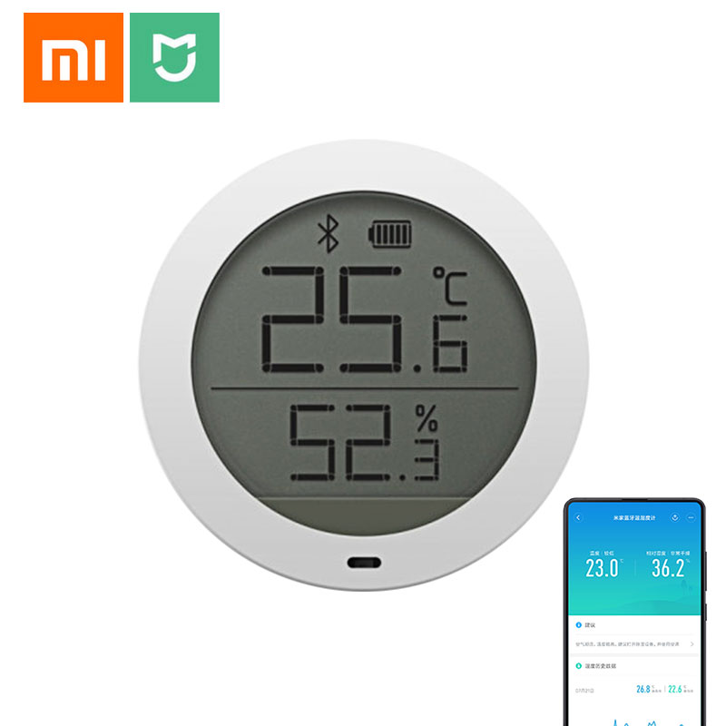 Xiaomi Mijia Bluetooth Hygrothermograph High Sensitive Temperature and Humidity Meter sensor with LCD Screen View on Mi Home APPXiaomi Mijia Bluetooth Hygrothermograph High Sensitive Temperature and Humidity Meter sensor with LCD Screen View on Mi Home APP