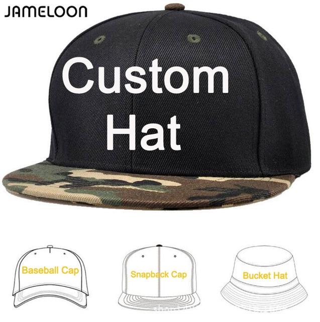 00bddd8fb4925 50pcs  lot Customize make Snapback Caps DIY Embroidery Printing Logo Own  Design Baseball Hats Fashion Cap Mixed Styles
