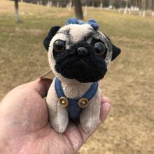 Stuffed pug keychain