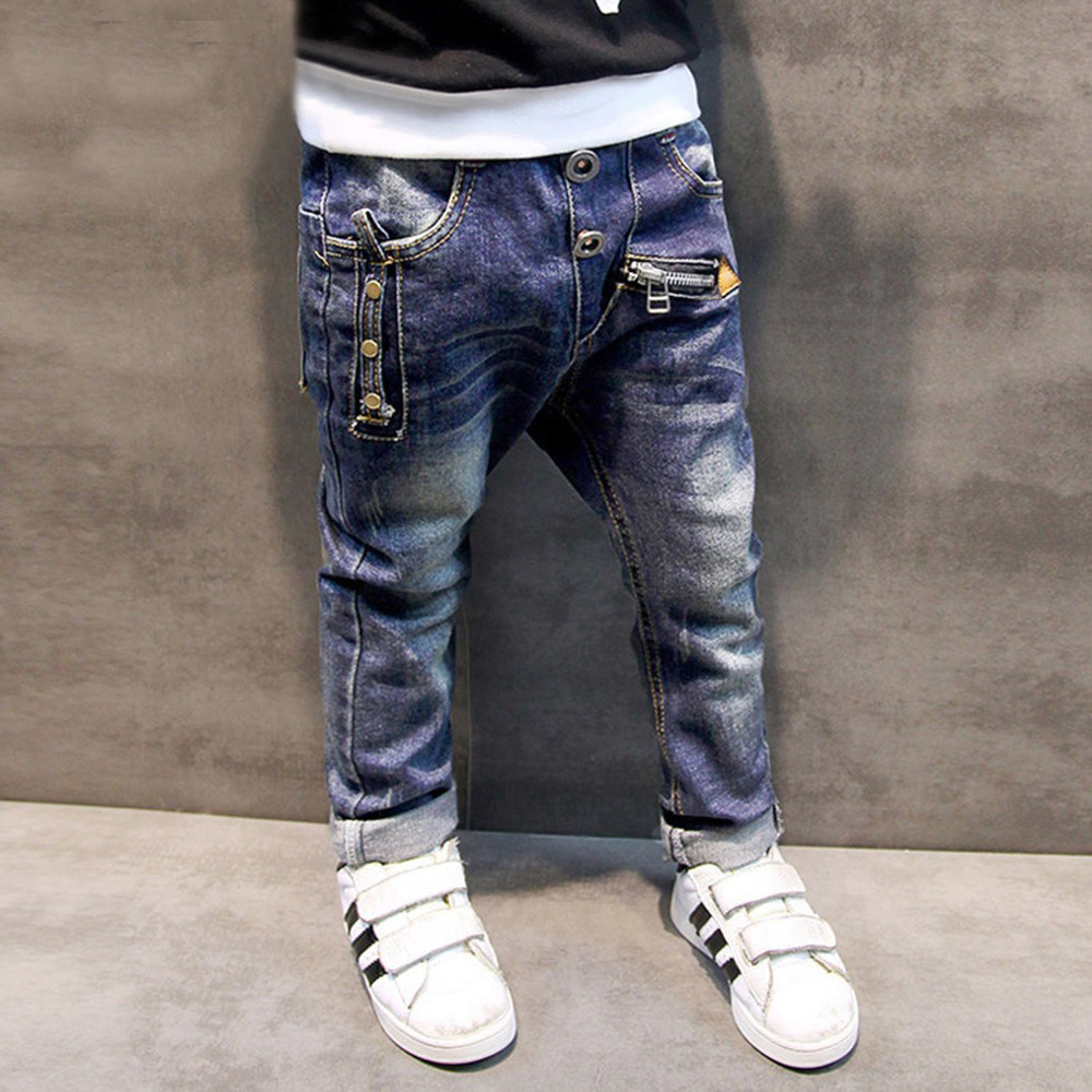 Boys Jeans Pants 2019 Brand Fashion Children Boys Jeans For Spring Autumn Kids Clothing Baby Skinny Denim Pants Ripped Trousers(China)