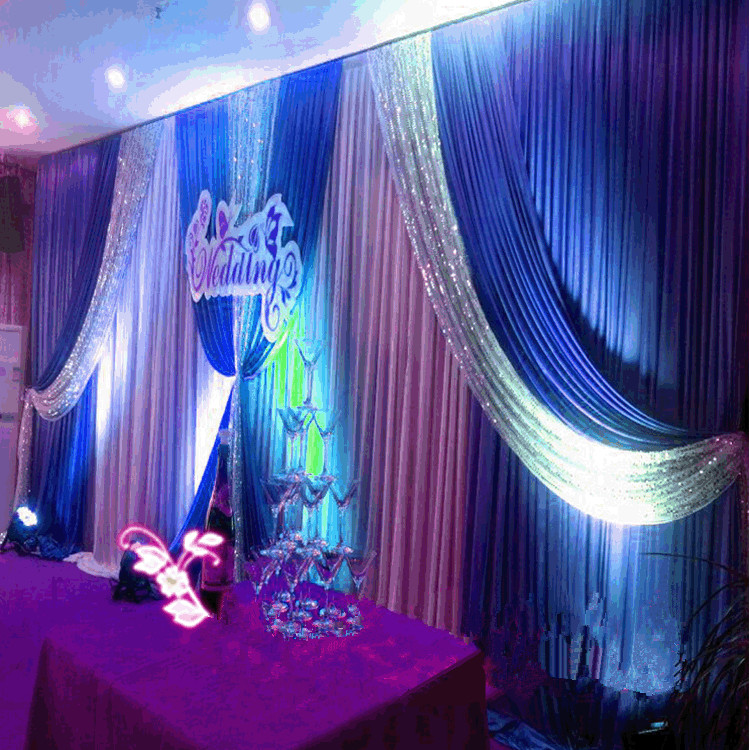 Luxury Sequins Wedding Backdrop Swags 3x6m 20ft W X 10ft