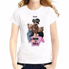 2019 Super Mom T Shirt Women Mothers Love Print White T-shirt Harajuku TShirt Vogue Tops Tee Femme Summer
