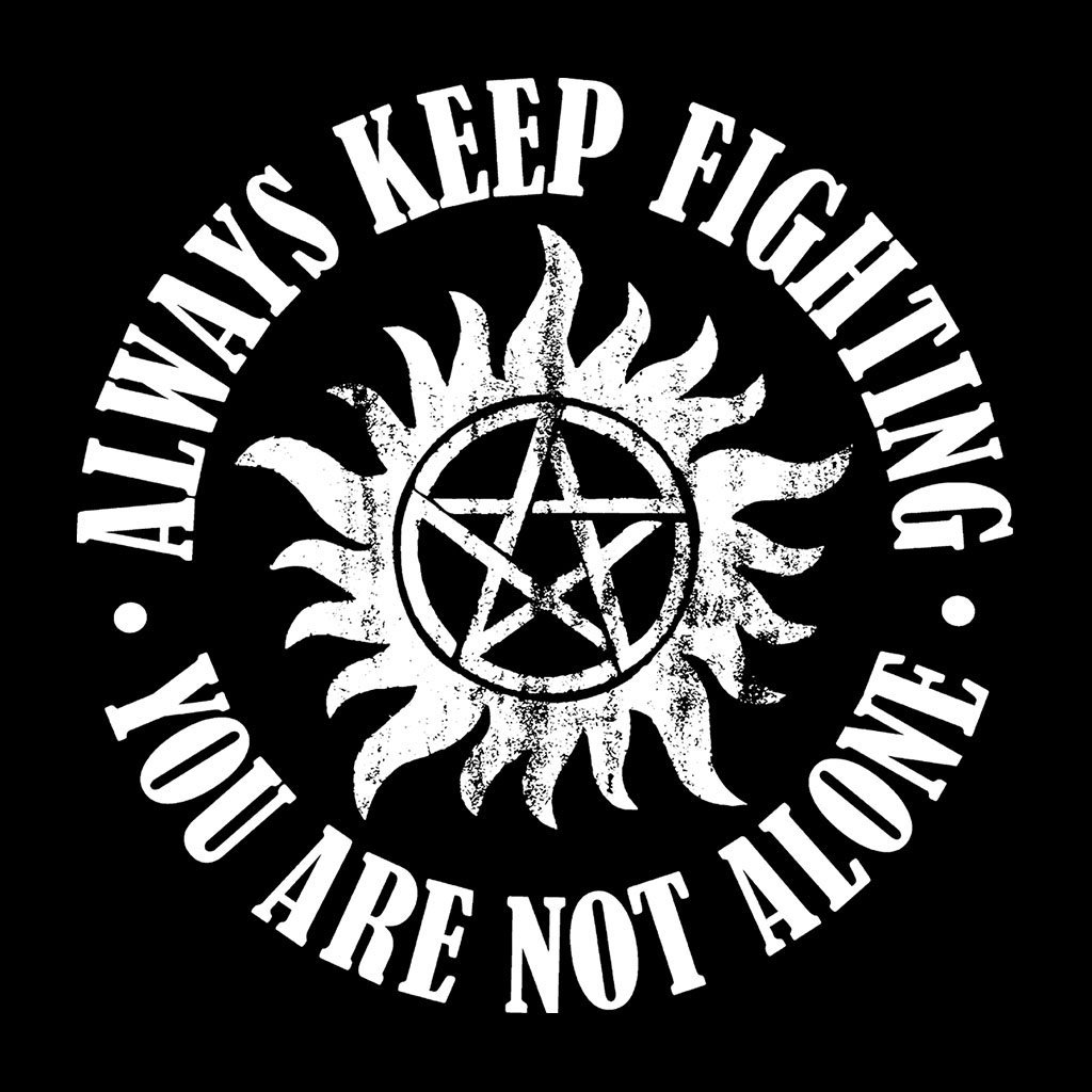 Supernatural Keep Fighting Anti Possession Symbol Mens T Shirt In T