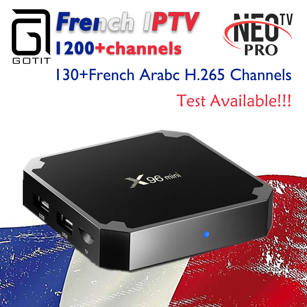 Ipremium French X96mini Android 7.1 tv box NEO IPTV with 1 year Subscription TV & VOD Arabic Belgium Morocco Algeria Set top Box