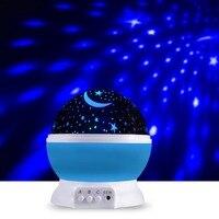 Rotating Projector Starry Night Lamp Romantic LED Light Starry Star Moon Sky Romantic Projection Kids Sleeping Light