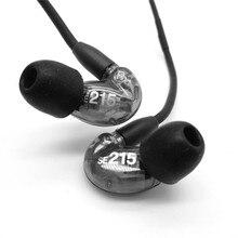 Europa y América caliente SE215 Hifi Bass Estéreo En la Oreja los Auriculares de Cancelación de Ruido Auriculares de 3.5mm Cable de Auriculares Fone De Ouvido