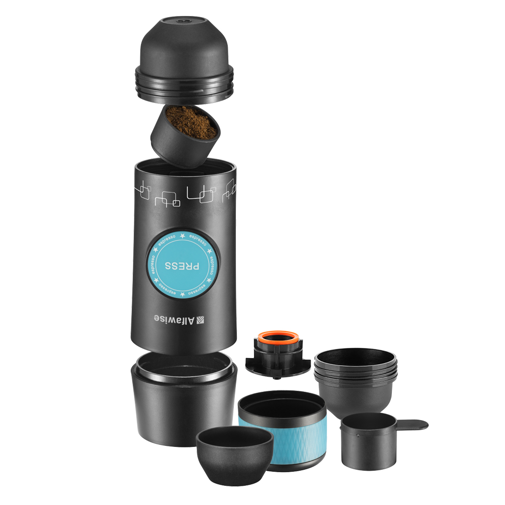 Alfa Wise CF1701BC Electric Manual Coffee Maker Hand Pressure Portable Capsules Espresso Coffee Machine For Home Travel все цены