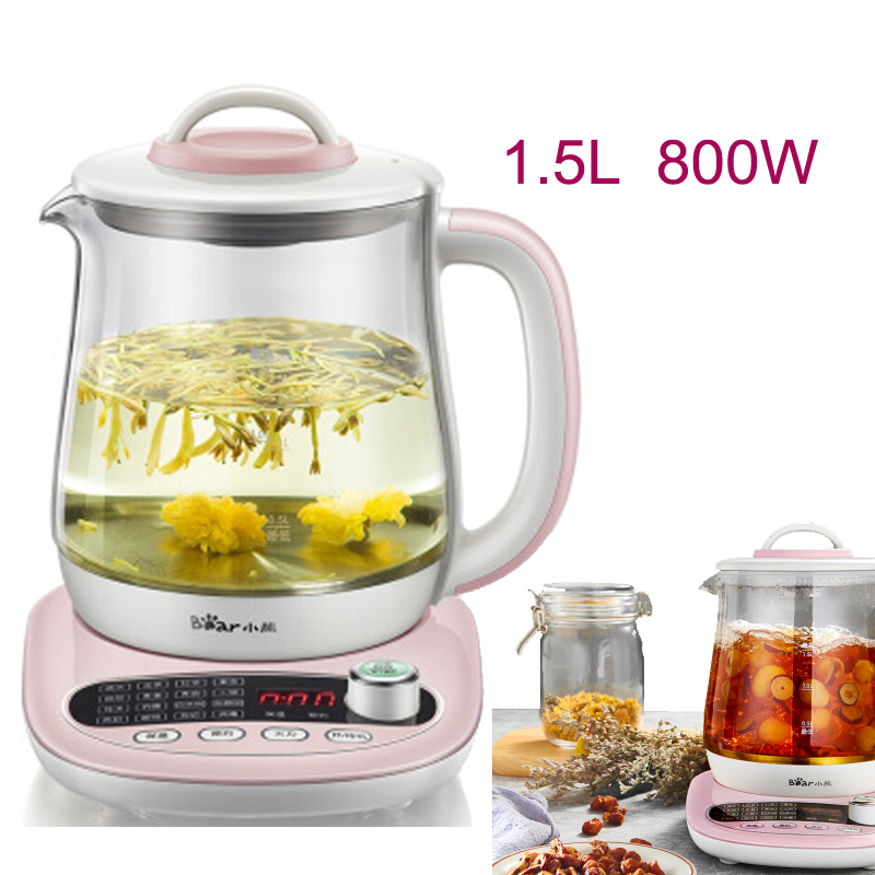 JA36,Electric Kettle 16 Functions Thermal Insulation Glass Boiling Pot 1.5L Anti-dry Health Preserving Pot Automatic x32 3 5l automatic electric kettle ceramics boil herb pot porcelain health preserving pot easy to clean microcomputer control