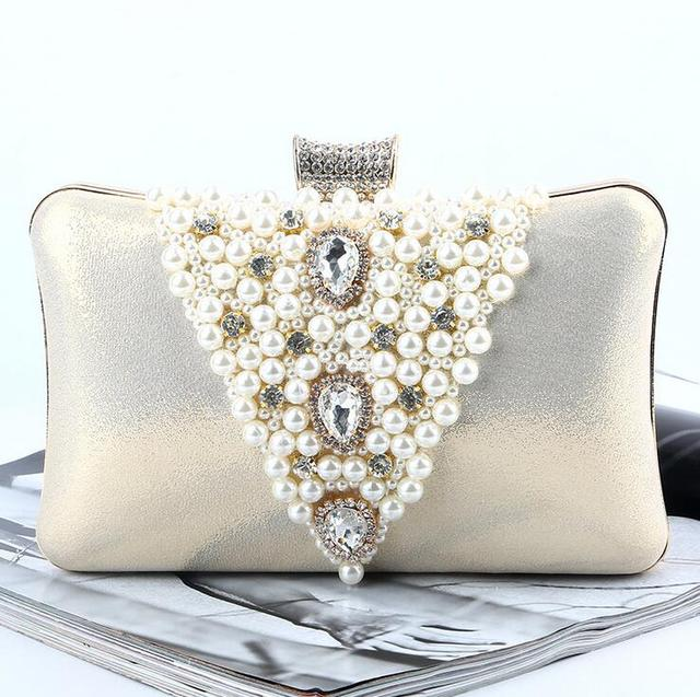 Golden Silver Women Wedding Handbags Bridal Clutches New Evening Shoulder Bag Bride Handbag