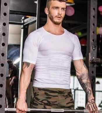 Мужская компрессионная Футболка компрессионная Бодибилдинг рубашка для мужчин летняя тонкая сухая быстросохнущая рубашка
