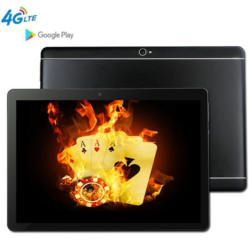 S109 Android 9.0 10.1 Inch tablet PC  8 Octa Core tablets RAM 4GB  ROM  64GB WiFi 3G WCDMA  4G LTE FDD GPS Bluetooth The Tablet