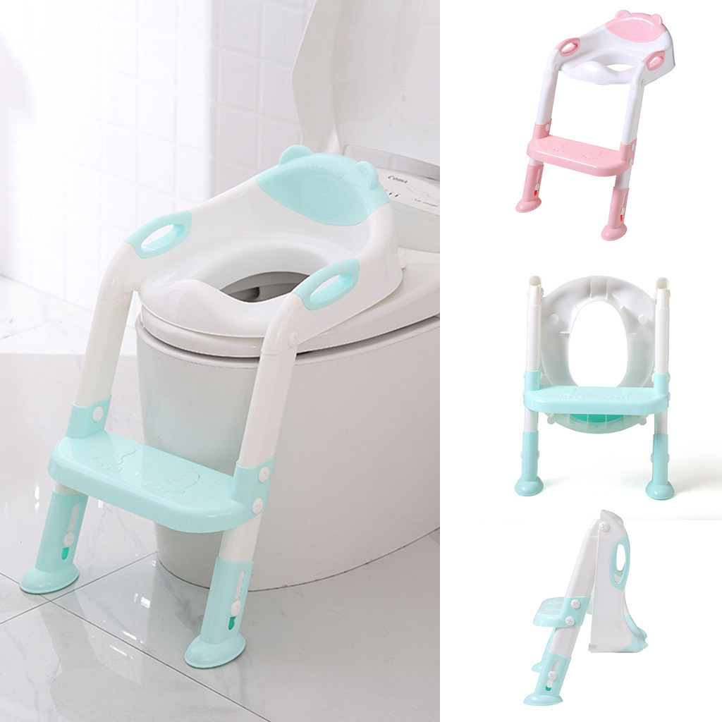 Surprising Us 22 1 38 Off Folding Infant Baby Child Potty Toilet Trainer Seat Step Stool Ladder Adjustable Training Chair Potty Training Urinoir Enfant In Creativecarmelina Interior Chair Design Creativecarmelinacom