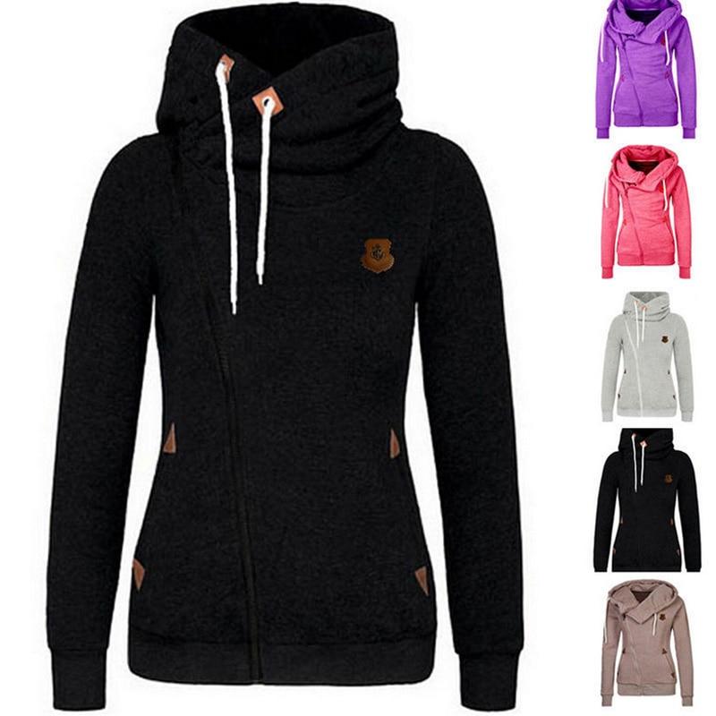 LNRRABC Comfortable Multicolor Autumn/Winter Women Coat Jacket Hooded Side Zipper Casual Warm Sportwear Outerwear & Coats