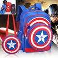 Children Kids Boys Girls Backpack Shield Captain American Kid Cartoon Primary School Student Backpacks Daypack Mochila Bag