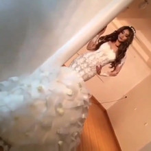 White Mermaid Wedding Dress Long Sleeve Robe De Mariage Vestido de noiva Custom Made 2016 Fashion Wedding Dresses With Beading