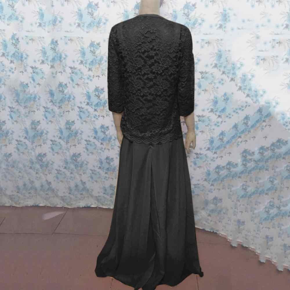 Vestidos de verão das mulheres Da Moda Manga Comprida Oco Out Lace Patchwork Sólidos Hem Solta Casual Vestido tamanho grande das mulheres vestidos