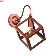 цена на IWHD American Country Vintage Wall Lamp Living Room Stair Retro Loft Industrial LED Wall Lights Fxiture Edison Lamparas De Pared