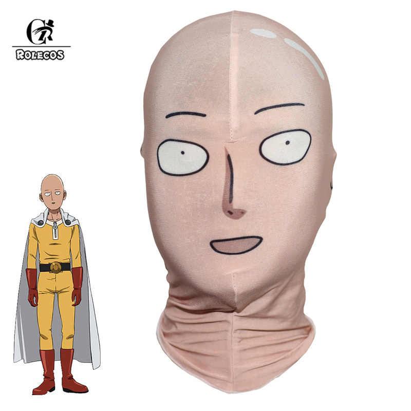 ROLECOS One Punch Man Cosplay Saitama Cosplay Mask  Saitama Men Headwear Anime Cosplay Costume Elastic Hat