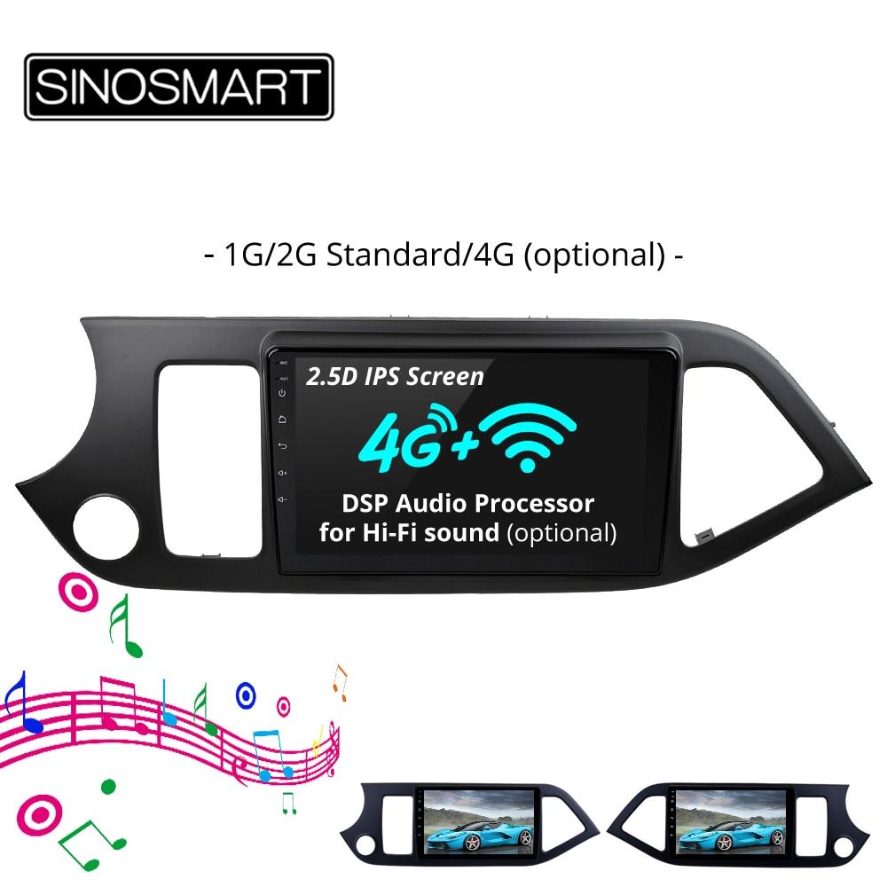 SINOSMART 2 5D IPS Screen 1G 2G Car Navigation GPS Player for Kia Picanto Morning 2011