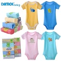 2015 DANROL Newborn Baby Short sleeve bodysuit Toddler boys girls Baby clothes infant 0-24M one piece Jumpsuit 5pcs/lot