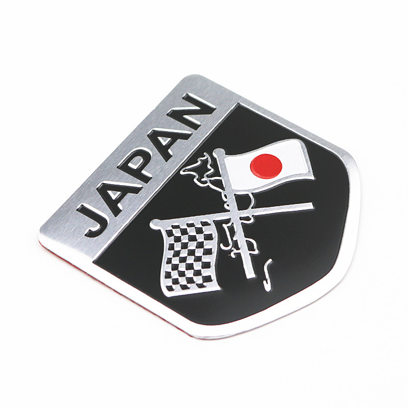 Metal Japanese Flag Emblem Badge JAPAN Car-Sticker Decal For Toyoto Honda Nissan Mazda Lexus Mitsubishi Infiniti SUBARU Suzuki