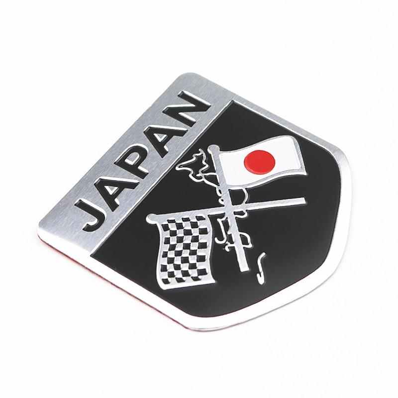 Metal Japanese Flag Emblem Badge JAPAN Car-Sticker Decal For Toyoto Honda Nissan Mazda Lexus Mitsubishi Infiniti SUBARU Suzuki
