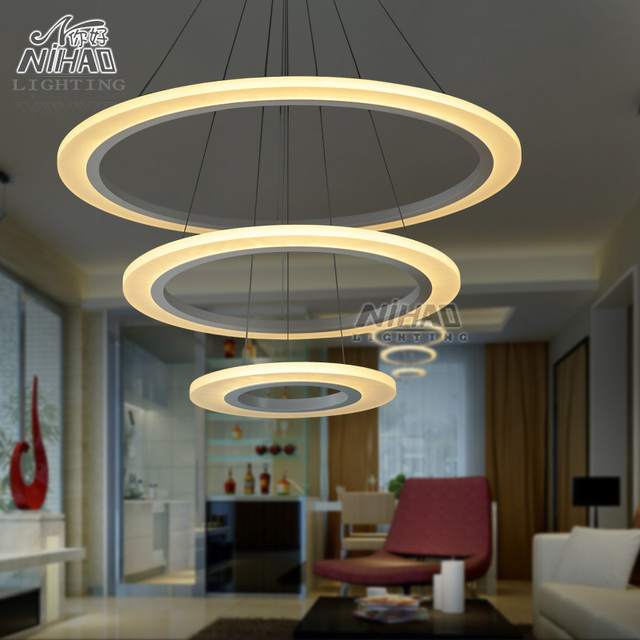 lmparas led lmpara crculo iluminacin moderna lmpara de araa lmpara de suspensin para comedor lmparas de