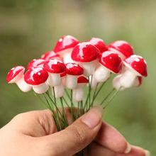 10X Mini Red Mushroom Micro Fairy Garden Decor Ornament Bonsai DIY Craft  Fashion China Free shipping on Garden Ornaments in Garden Landscaping   Decking  . Fairy Garden Ornaments Ireland. Home Design Ideas