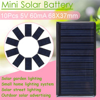 10Pcs/Set 5V 60mA Small Power Solar Panel Mini Phone Battery Charger Solar Cell Panel Children DIY Micro Powered Battery New