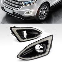 High Quality LED Daytime Running Light For Ford Edge 2015 2016 12V DRL Fog Lamp Cover